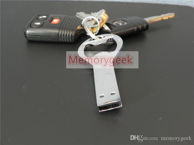 2019 Gorąca Sprzedam Napęd flash USB 128GB 2.0 Pen 64 GB 32GB16GB 256 GB Otwieracz do butelek Pen Flash Drive Custom Logo