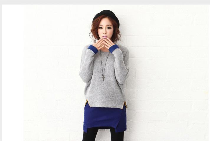 Womens Dress Sweaters New 2014 Fall/winter Korean Patchwork ...