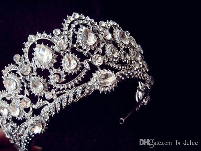 2020 Vintage Peacock Crystal Tiara Accessori capelli da sposa matrimonio Quinceanera Tiaras e corone Pageant Strass Corona