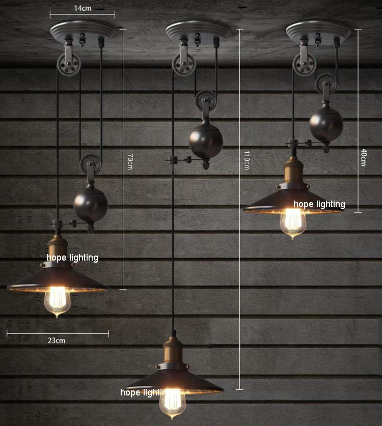 Industrial Rise And Fall Pendant Light: Contemporary Pendant Lamps Rise Fall Lights Kitchen Pulley
