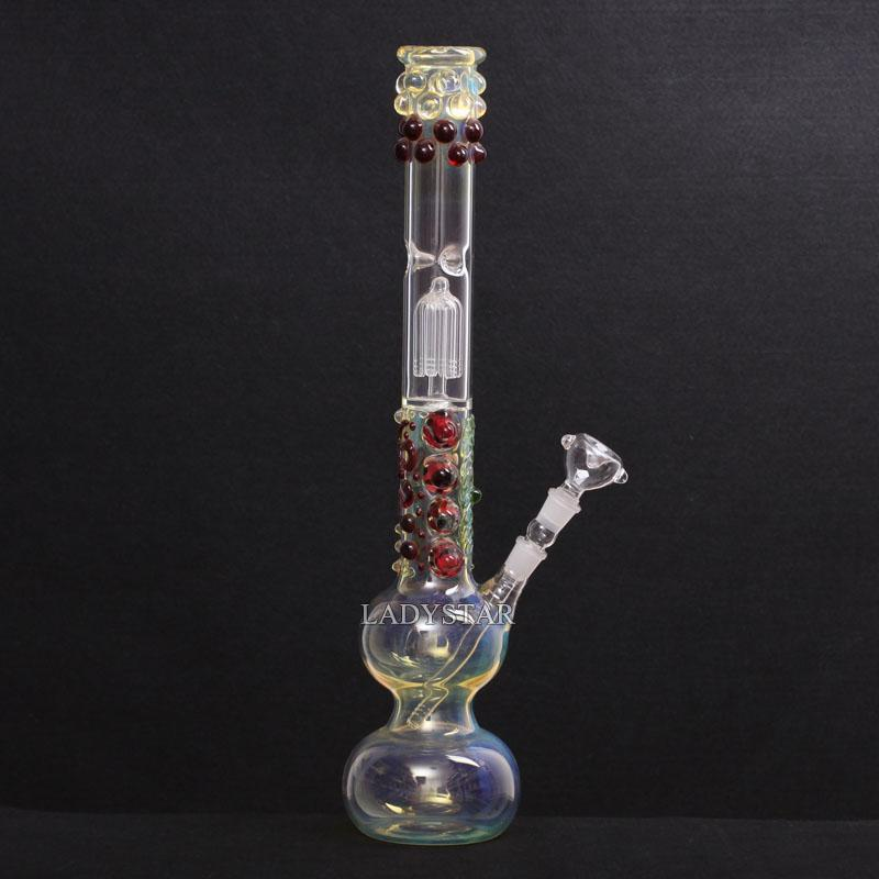 "22.5"" inches Glass Rigs New colorful big Heady Glass Bong Water Pipes 6 Arm Tree Percolator Glass Smoking Bongs Recycler L119B"