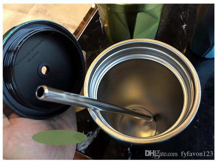 أعلى بيع تصميم مختلف ستاربكس الفولاذ المقاوم للصدأ الالتصاق آلهة كأس العزل كأس القهوة الإبداعية مع غطاء a96