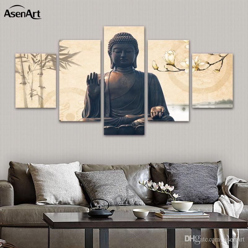 Online Cheap Large Buddha Wall Art Picture Modern Canvas Print ...