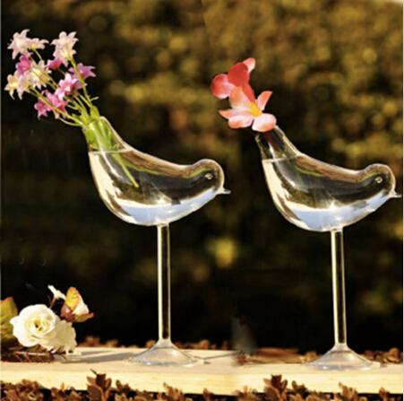 سعيد الطيور زهرة المزهريات الزفاف الديكور الكريستال المزهريات الزجاجية تصميم أنيق الديكورات المنزلية