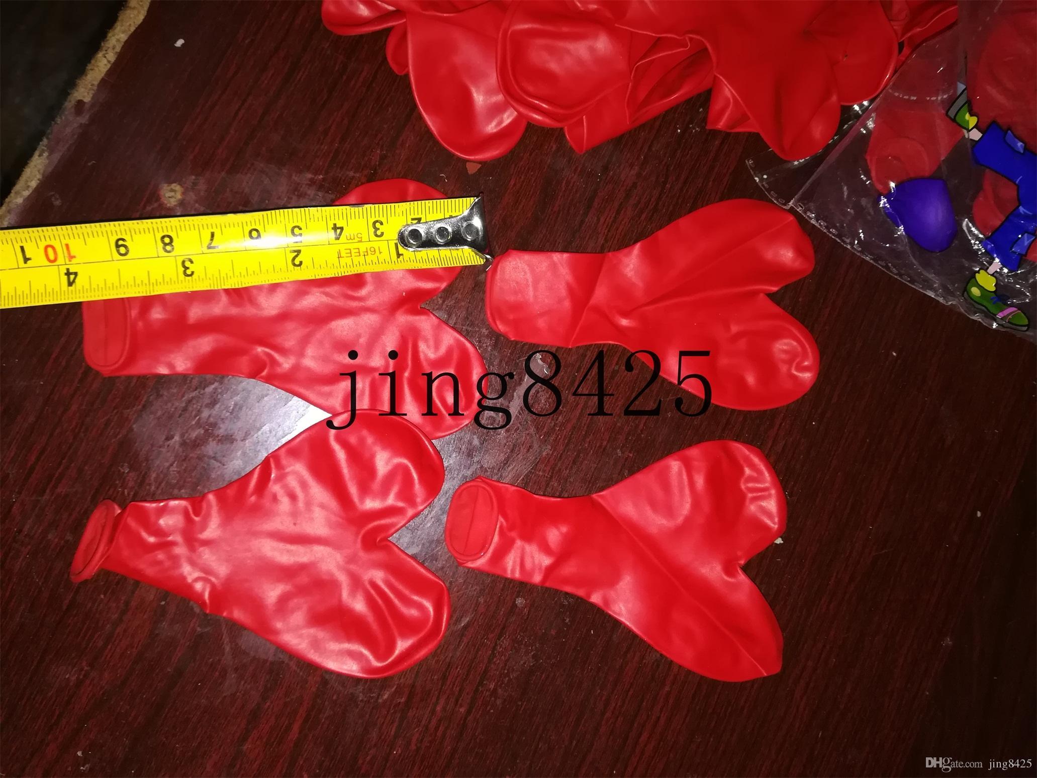 50 pçs / lote 10 polegadas de Abastecimento de Casamento de Aniversário Vermelho Amor Balões de Coração Partido Colorido Balão De Ar De Látex / Ballon Crianças Brinquedo Inflável