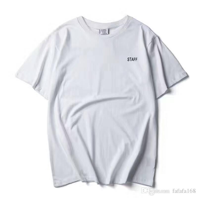 2017 NEUE TOP SS16 Sommer vetements brief drucken männer Schwarz Weiß kurzarm t-shirt hiphop PERSONAL Mode Lässig Baumwolle tee S-XL