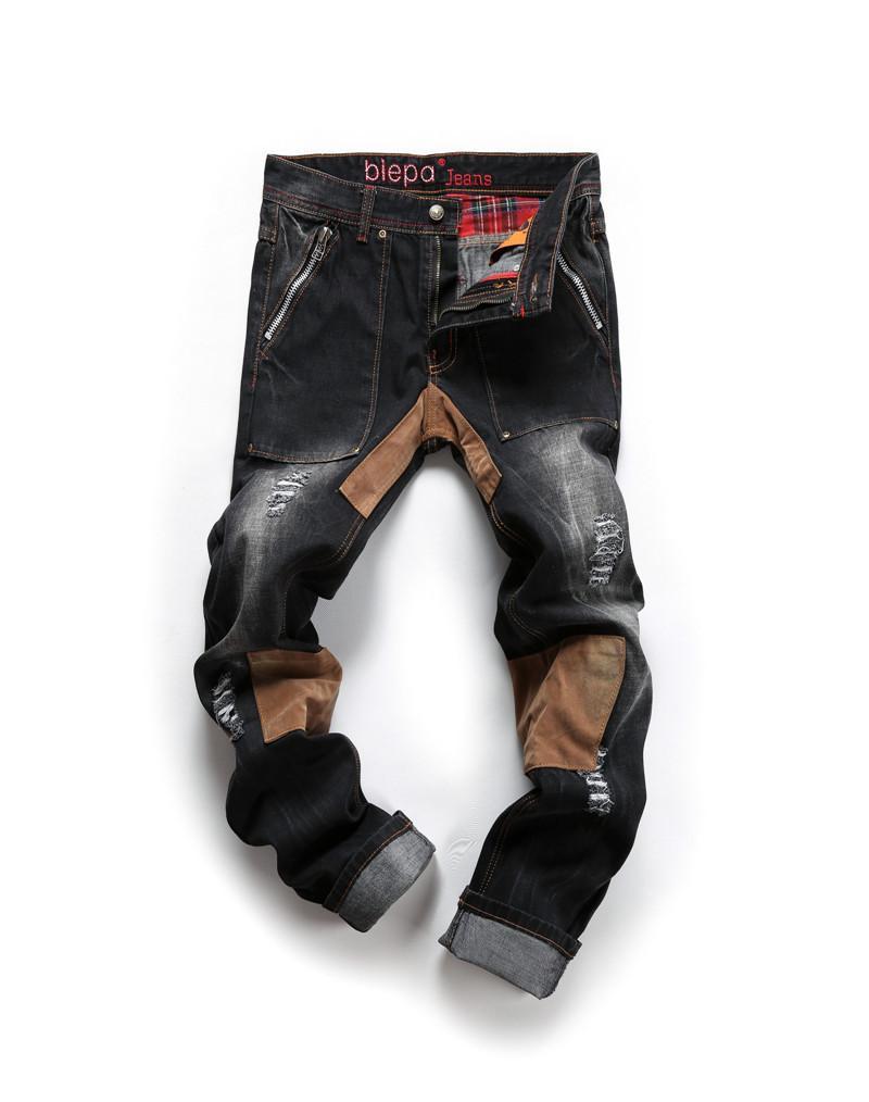 Großhandel Hot 2015 Patchwork Designermarken Hochwertige Gepatcht  Zerrissene Jeans Männer Rock Männer Jeans Hip Hop Jeans Rotkehlchen  Denimhosen Mya0061 Von ... 7644522608