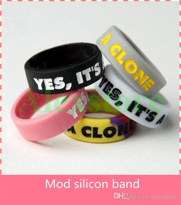 Silicon band vape beauty ring for mechanical mods rba rda atomizer decorative protector antiskid mech mod penny praxis legion e cig