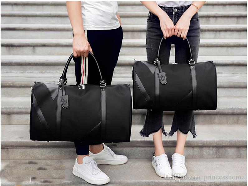 b22d0270b9cc High Quality Travel Bag Large Capacity Men Hand Luggage Travel Duffle Bags  Nylon Weekend Bags Multifunctional Travel Bags Wheeled Backpacks Travel Bags  For ...