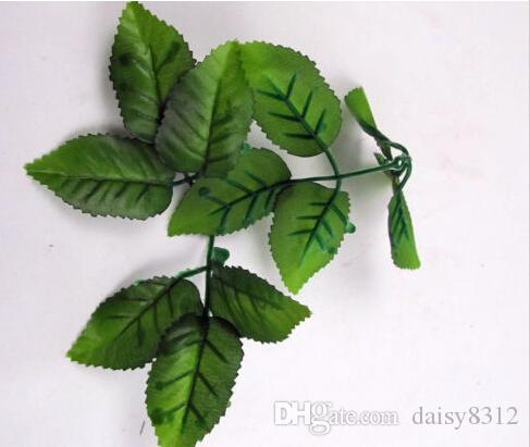Green Artificial Rose Leaf Leaves For Bouquet Garland Wreath Cap Decor