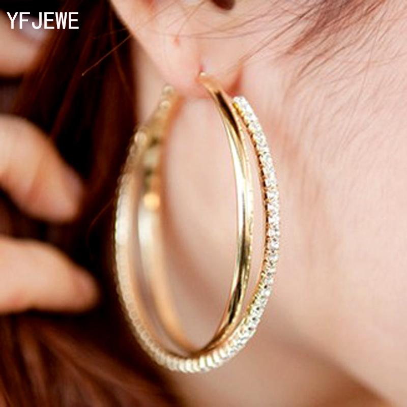 New Big Hoop Earring For Women Sale Fashion Big Round Hoop Earrings Simple  Pierced Silver Gold For Evening Party  E008 UK 2019 From Crazyxb 647c36e438