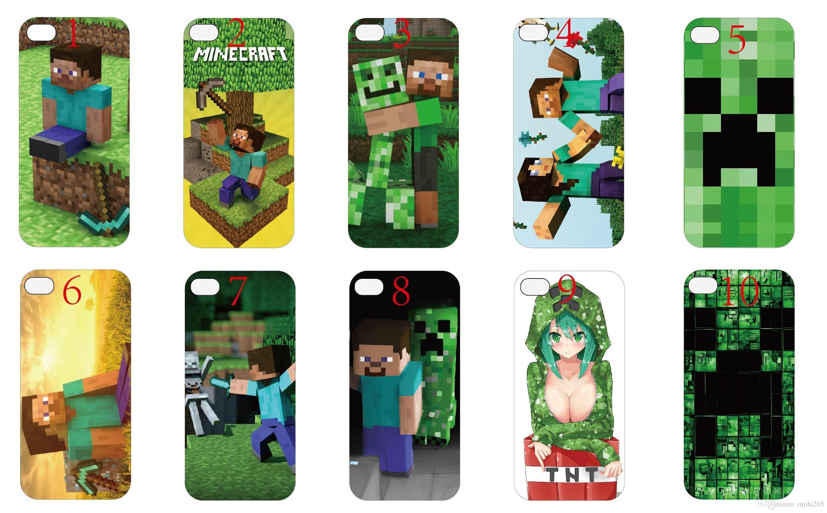 minecraft iphone case 2014 real plastic phone cases minecraft cover new 12631