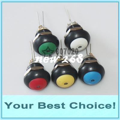 100pcs/Lot 12mm Waterproof Momentary Illuminated Plastic Push Button Switch (DHL Free Shipping)