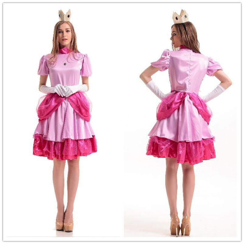 Sexy Halloween Costumes For Women Cosplay Deluxe Sweet Peach Princess Costume Satin Dress Game Clothing Outfit H39293 Cute Group Costumes For Girls ...  sc 1 st  DHgate.com & Sexy Halloween Costumes For Women Cosplay Deluxe Sweet Peach ...