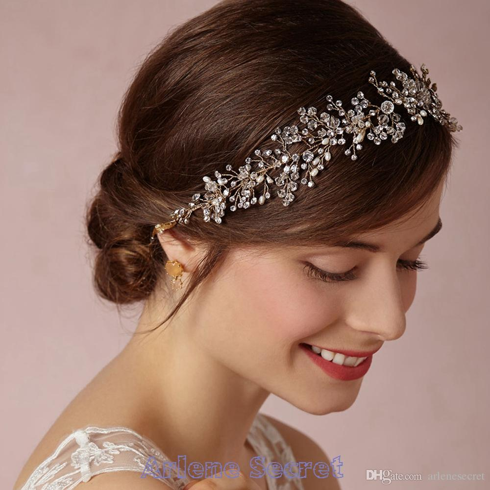 2015 romantic bridal tiaras for wedding hair accessories crystal