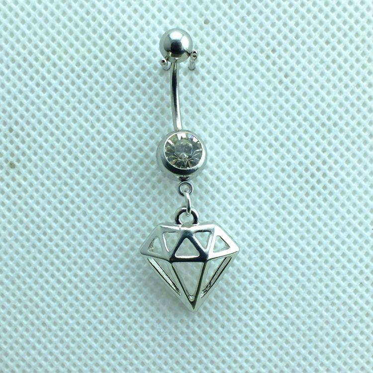 Piercing biżuteria Moda Paminy Pierścionki Ze Stali Nierdzewnej Barbell Dynda Alloy Cage Belly Button Pierścionki Biżuteria
