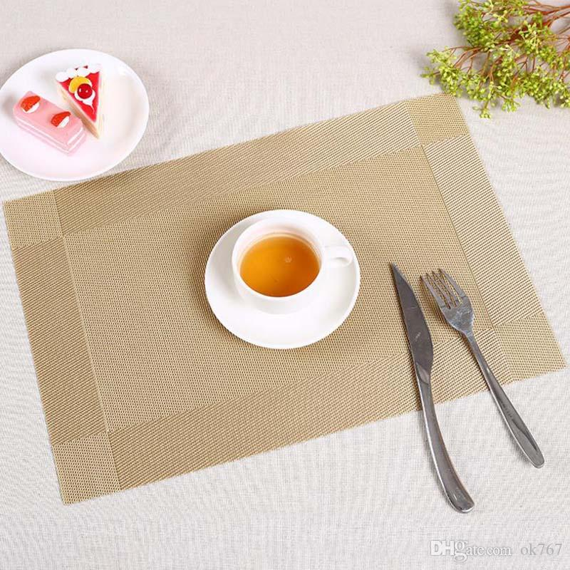 PVC kitchen dinning bamboo table Placemats Table cloth mat manteles individuales doilies cup mats coaster pad