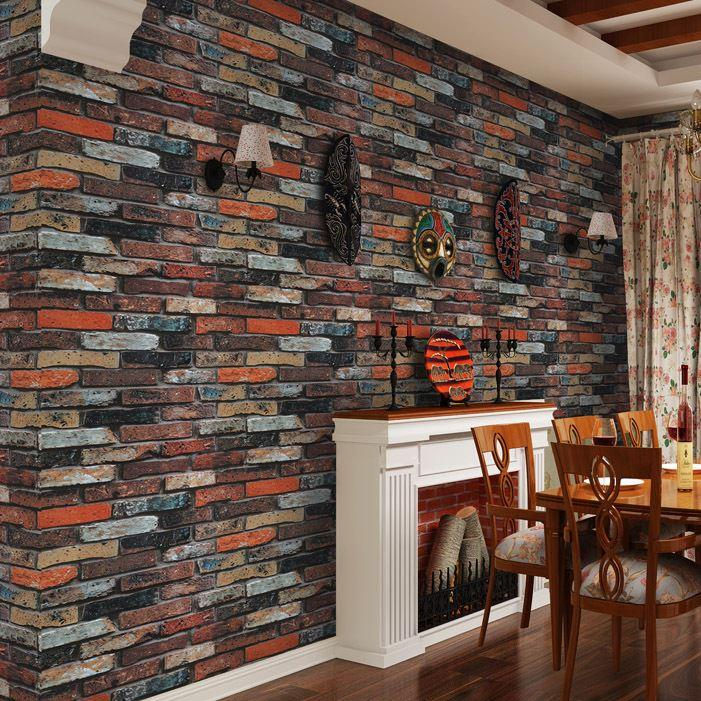 Modern Rustic Brick Stone Wallpaper For Living Room Chinese Retro  Minimalist Pvc Faux Brick Wallpaper Roll Papel De Parede Roll Santabanta  Wallpaper Scenery ... Part 73