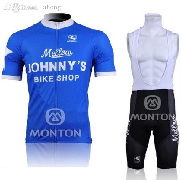 Wholesale 2011 Mellow Johnny S Blue Jersey And Cycling Bib Shorts Kit 2011 Johnnys  Cycling Clothing Size XS 4XL All In Stock Free Long Sleeve Cycling Jersey  ... fdd55ea4e