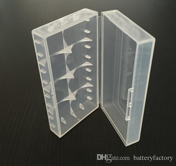 18650 18350 Batterie Tragbare Kunststoff Klare Hüllen / Klarbatterie Koffer für 18650 18350 Batterien DHL Freies Verschiffen