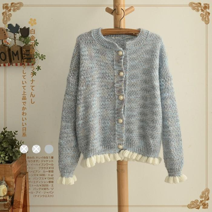 78230814e4d4 2019 Wholesale Sweet Mori Girl Knitted Sweater Cardigan Jacket Women ...