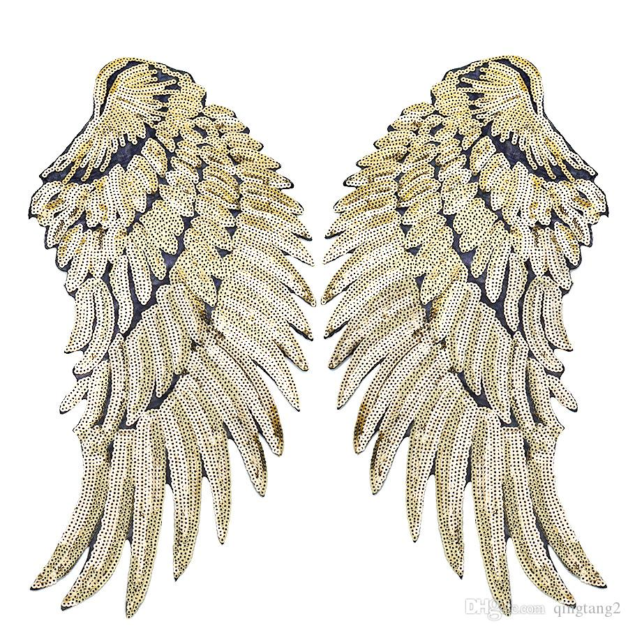 e patch patch ailes pour vêtements vêtements fer à repasser sur les correctifs de broderie pour jeans veste coudre coudre sur broderie insigne