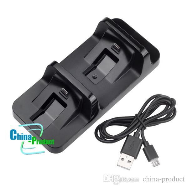 DOBE USB Dual Charger baterias recarregáveis Dock Station para PS4 controlador sem fio para PlayStation Charger Dock 010205