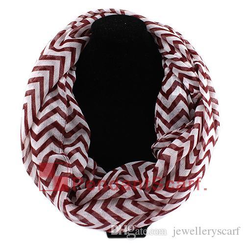 Nuevo diseño Wave Chevron Infinity Bufanda de la bufanda de la bufanda de la bufanda de la bufanda de la bufanda es disponibles, envío gratis, sc0048