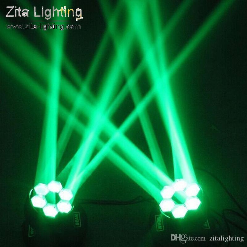 2 Pçs / lote Zita Iluminação LED Moving Head Luzes Mini Abelha Olho 6X15 W RGBW Feixe de Iluminação de Palco Clube de Casamento DJ Discoteca Bar atmosfera efeito