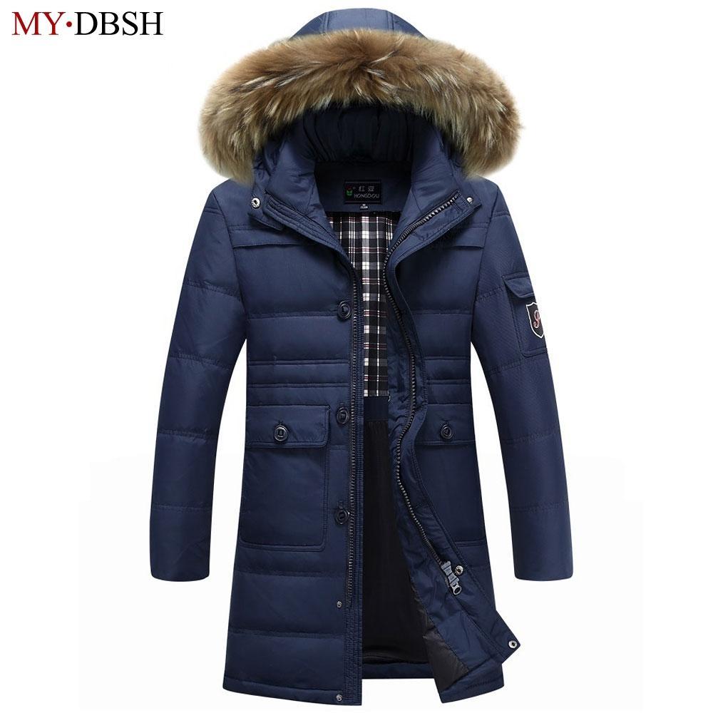 660e46304b5b4 Winter Warm Hooded Männer Daunenjacken Casual X-Lange Entendaunen Parkas  Jacke Verdicken Outwear Fashion Solid Parkas