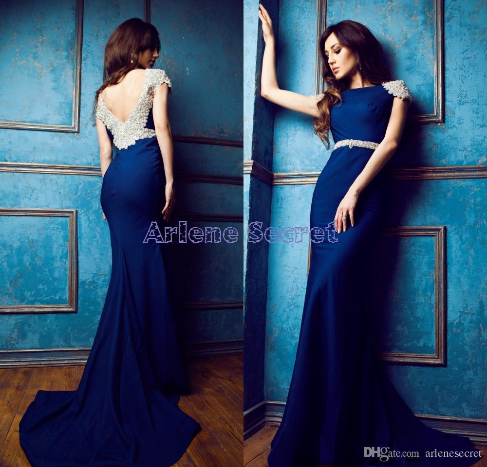 Black Shoes Royal Blue Dress