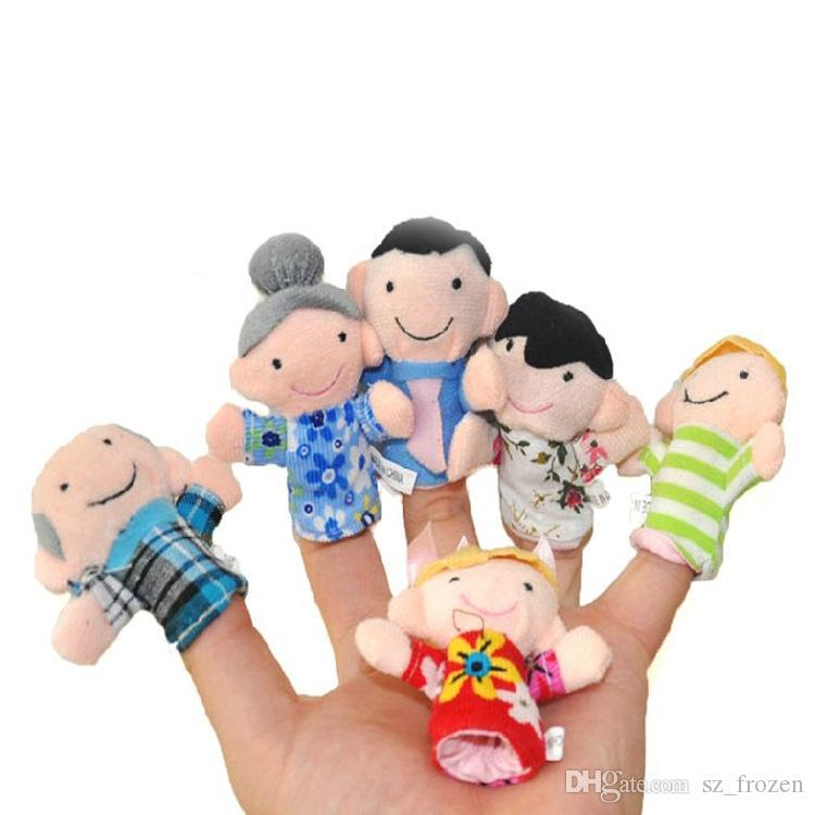 Giocattolo bambini Cartone animato Pupazzo da dito Giocattolo da dito Dito Bambola Bambola animale Bambole bambini fiabe bambini Giocattoli famiglie Zodiaco cinese A-0302