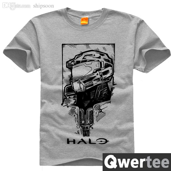 Wholesale-Game HALO men T shirts Master Chief 3D Printed short sleeve  t-shirt anime t shirts camisa masculina plus size 4XL