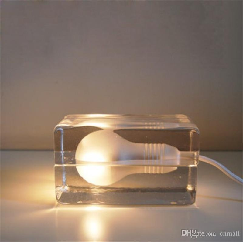 Ice Table Lamp Desk Lamp Night Light house block ice cubes light Nordic American fashion creative bedside lamp bedroom ice light
