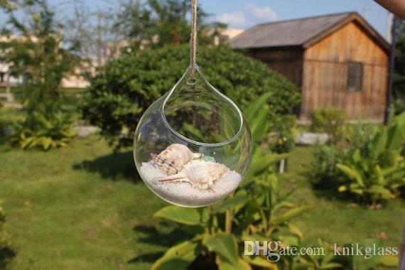Decorazione Vasi Da Giardino : Acquista terrario di vetro appeso vaso da parete rotondo la