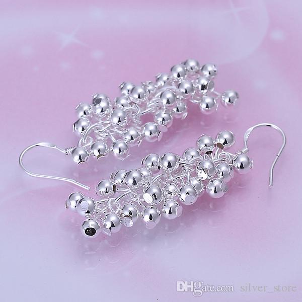 Brand new sterling silver plate Grape Pearl Earrings DFMSE008,women's 925 silver Dangle Chandelier earrings a