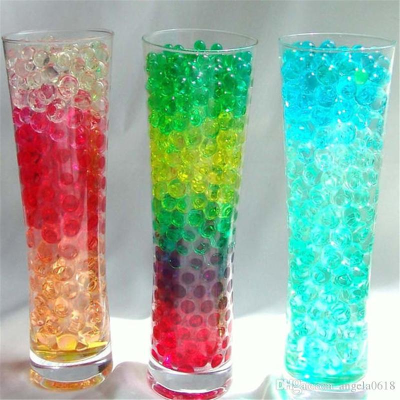 Trasporto libero 3000 pezzi / set Soilless giardinaggio cristallo fango acqua perline perline bio gel palla fiore / sarchiatura