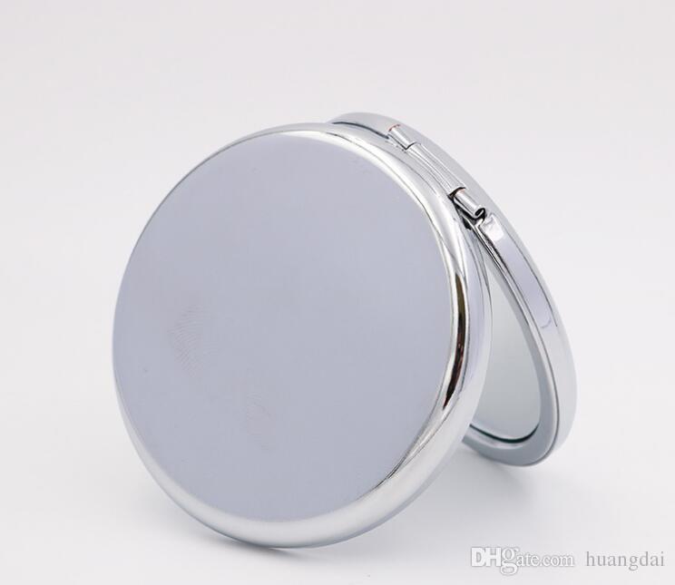 새로운 포켓 거울 실버 빈 컴팩트 거울 DIY 화장 용 화장 거울을위한 웨딩 파티 선물