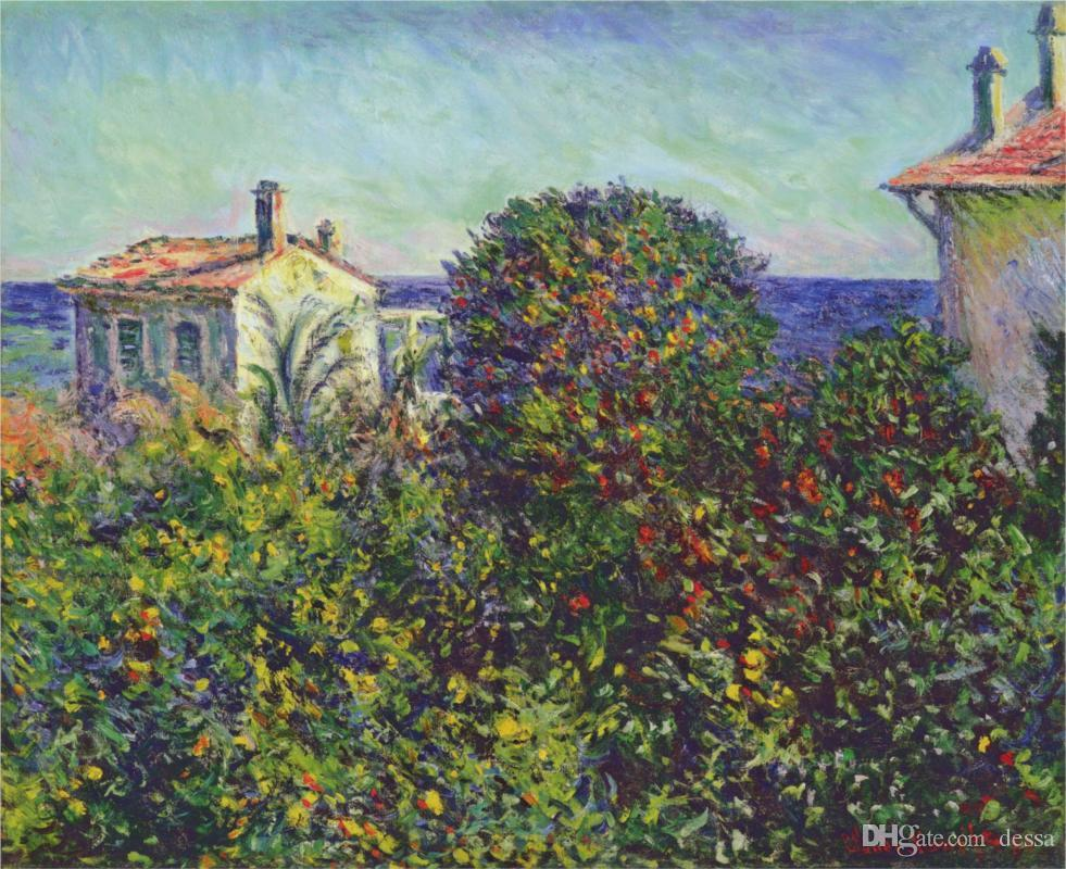2017 buy christmas gift bordighera the house of gardener claude monets oil painting reproduction hand painted from dessa 6302 dhgatecom