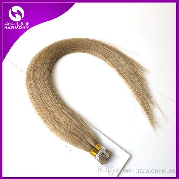 Am billigsten!! Ich Tipp Keratin Haarverlängerungen 1 Gramm Pre gebundenes Haar 50 Strähnen, Indian Straight 100 Echthaar