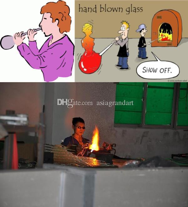 100% Mouth Сгорел CE UL боросиликатного стекла Murano Чихули Искусство Кухня Освещение Кристалл Лестница Люстра Свет
