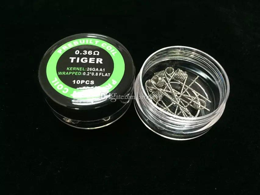 RBA Prebuilt Coils Alien Fused Clapton Flat Mix Twisted Hive Quad Tiger 9 Types Heating Resistance wires RDA DIY premade coil