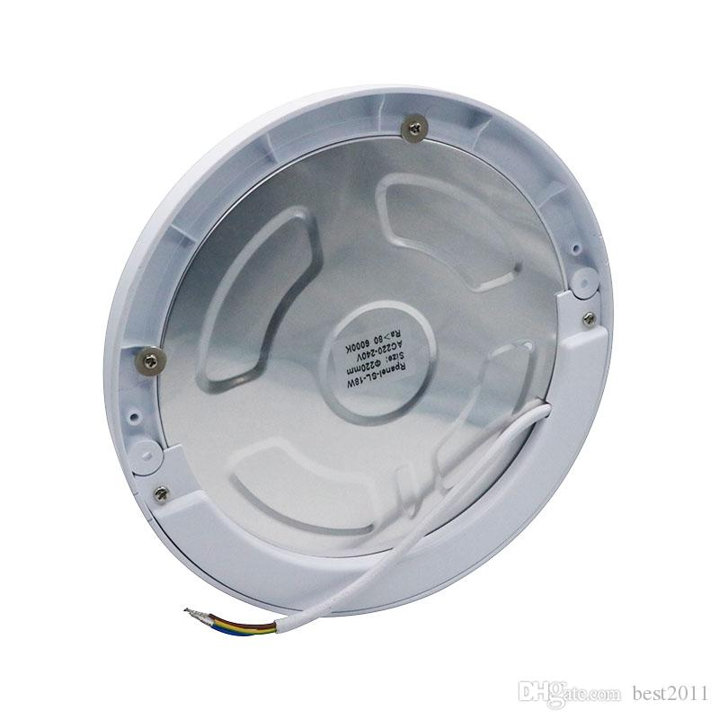 15W Ultra Thin Panel Light Built In Driver With Human Body Infrared Detector Motion Square Round Surfac Mounted Light