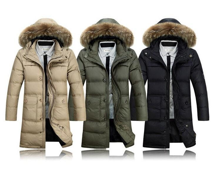 Best Selling Winter Men Ultra Long Down Jacket Over The Knee ...