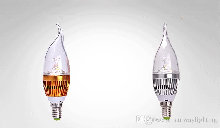 LED Candelabra E12 E14 E27 Bulb 6w 10w Dimmable LED Candle Bulb High Lumen LED Lights Lamp Warm Nature Cool White