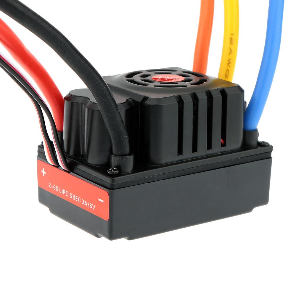 FVT Wolf 2-6s LiPo Battery 120A Pro Electronic Speed Controller Brushless ESC with Switch Mode 6V/3A BEC for 1/8 1/10 RC Car order<$18no tra