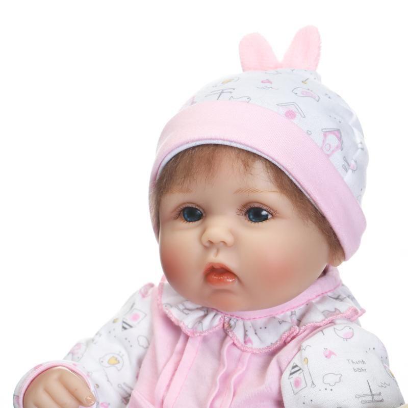 Nuevo diseño popular 17 pulgadas bebés reborn baby doll jugando realista de silicona suave vinilo suave toque suave