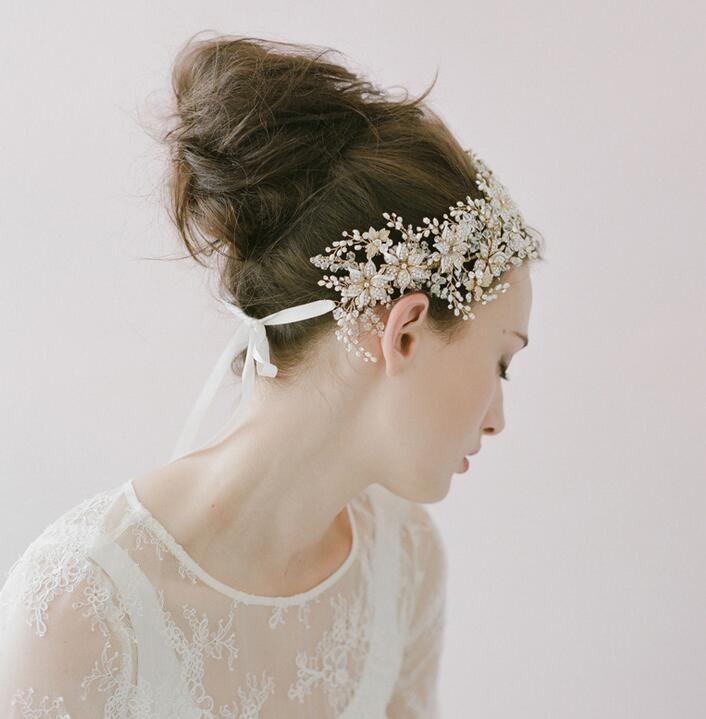 Diademi di nozze Diademi nuziali di nozze Corona Gioielli capelli 2015 Copricapo da sposa Accessori capelli Accessori capelli Accessori capelli copricapo HT16