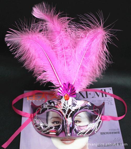 Kadınlar Seksi Yortusu Venedik maske masquerade maskeleri ile çiçek tüy maske dans parti maskesi ücretsiz kargo TY51