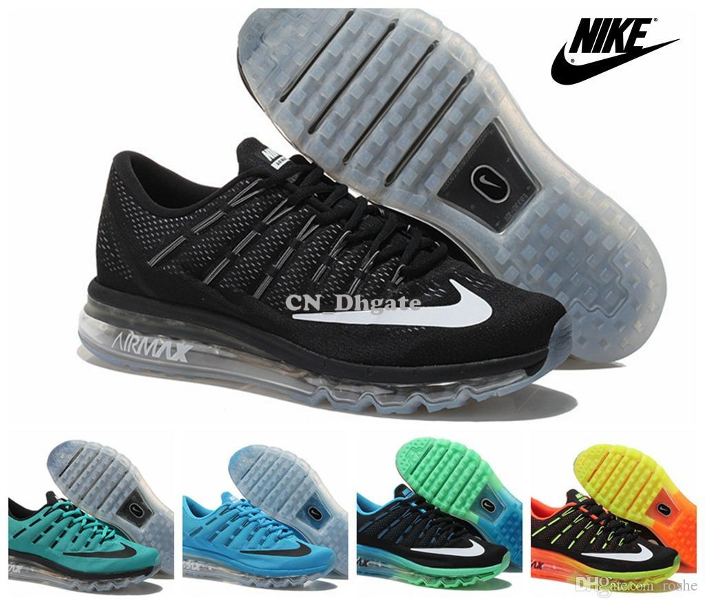 sale retailer 7d149 cbab8 Nike Air Max 2016 Running Shoes For Men , Lightweight Black Red Jade White  Airmax Maxes 11 45 Womens Trail Running Shoes Latest Shoes From Roshe, ...